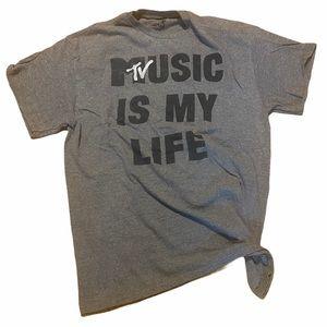MTV original music is my life tee large